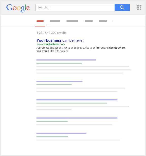 Letak website di google